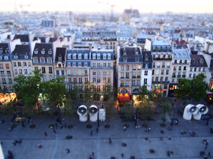 Weekly Photo Challenge: Perspective. The view of Paris from the roof of the Pompidou Centre.