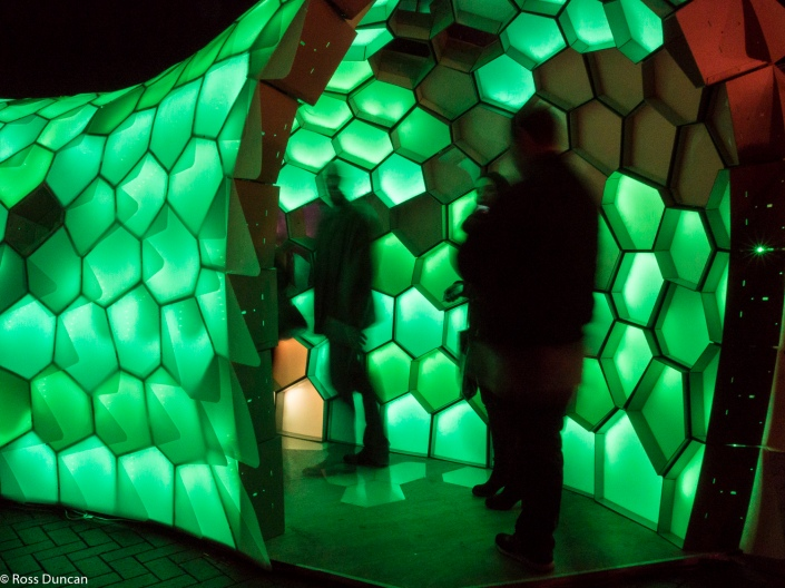 Interactive light shows.
